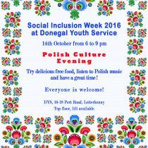 ALL WELCOME FOR POLISH CULTURE EVENING AT DONEGAL YOUTH SERVICE