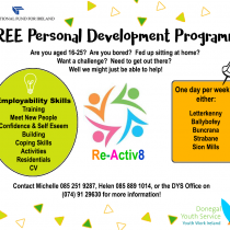 FREE Personal Development Programme for Young People (16-25 years)