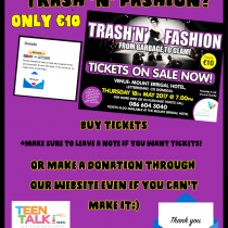 Support Trash 'N' Fashion tomorrow.  Can't make it?  Make a donation online anyway :)